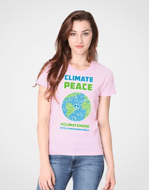 CLIMATEHERO-PEACE-TSHIRT