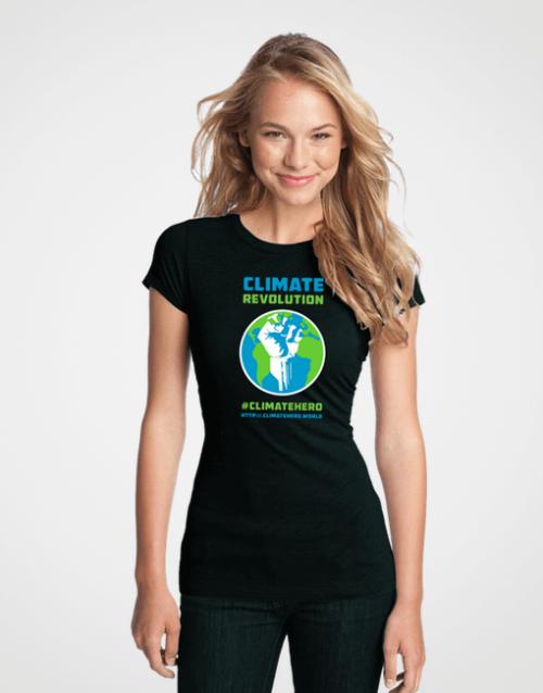CLIMATEHERO-REVOLUTION-WOMENS-FITTED-TSHIRT