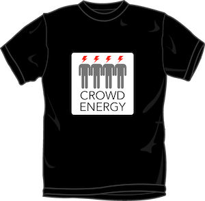 Crowd Energy Black T-shirt