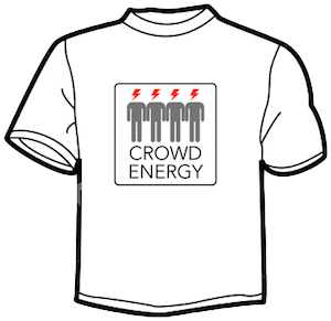 Crowd Energy White T-shirt