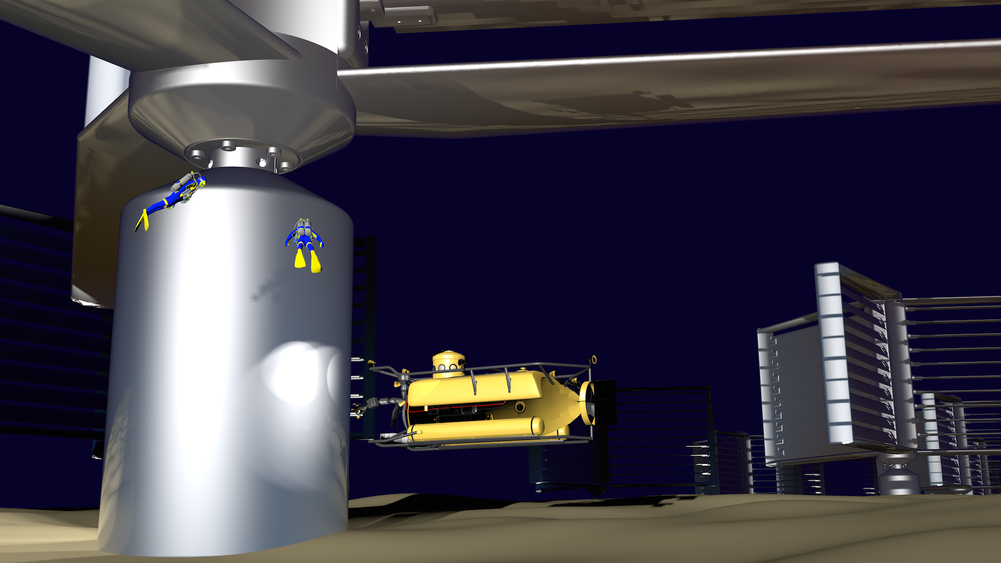 Ocean Energy Turbine Farm Small